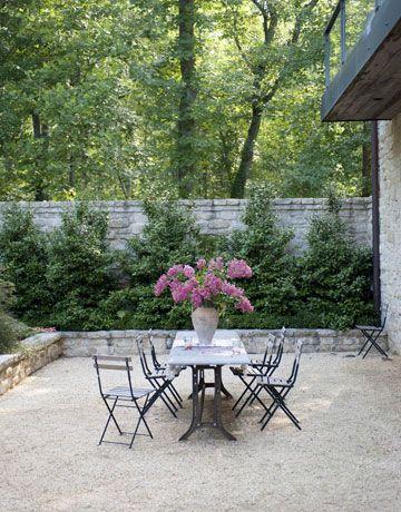 Backyard Makeover A Rustic Modern Pea Gravel Patio Choux Designs