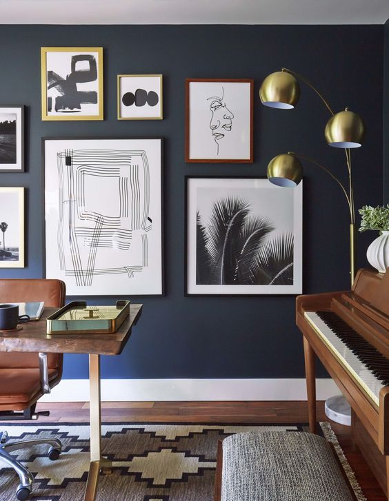 OFFICE GALLERY WALL | via  Emily Henderson