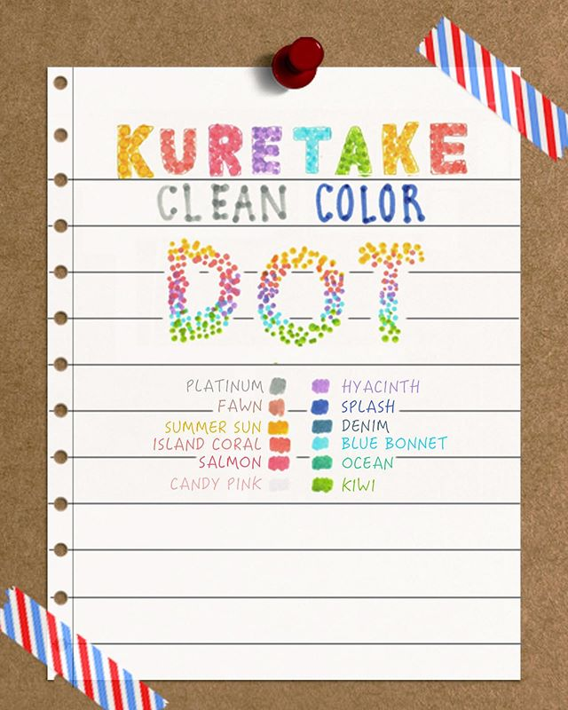 ⭐️ New ⭐️ Kuretake Clean Color Dot Markers ! These markers come in 12 colors and are double sided. With one side, you can produce fine lines, and with the other, you can produce dots of different sizes depending on the pressure applied to the marker. . . . Tags . . . #stationery #studygram #studyblr #productivity #sanfrancisco #日本町 #japantown #文房具 #japanesestationery #japan #maido #maidostationery #kuretake #art #artsupplies