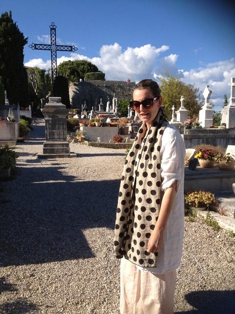 At the cemetery in Saint-Paul-de-Vence.
