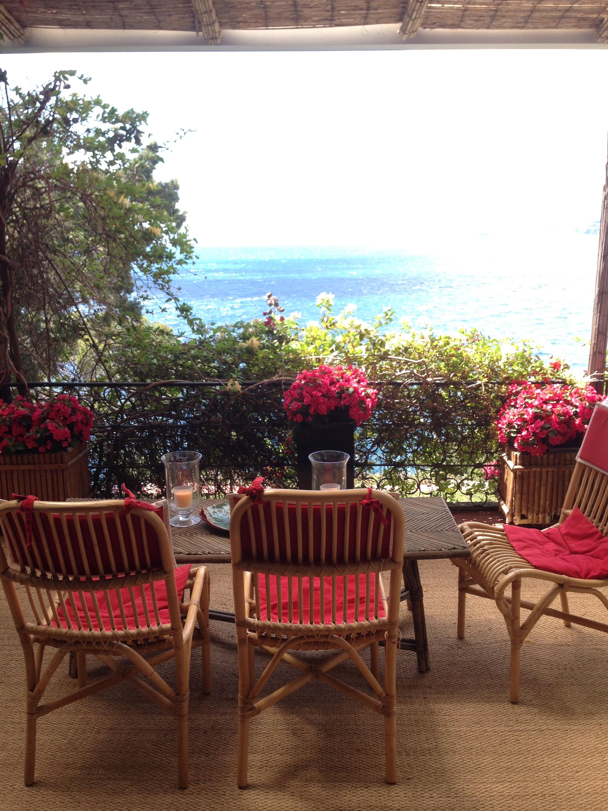 The terrace of Villa Santo Sospir