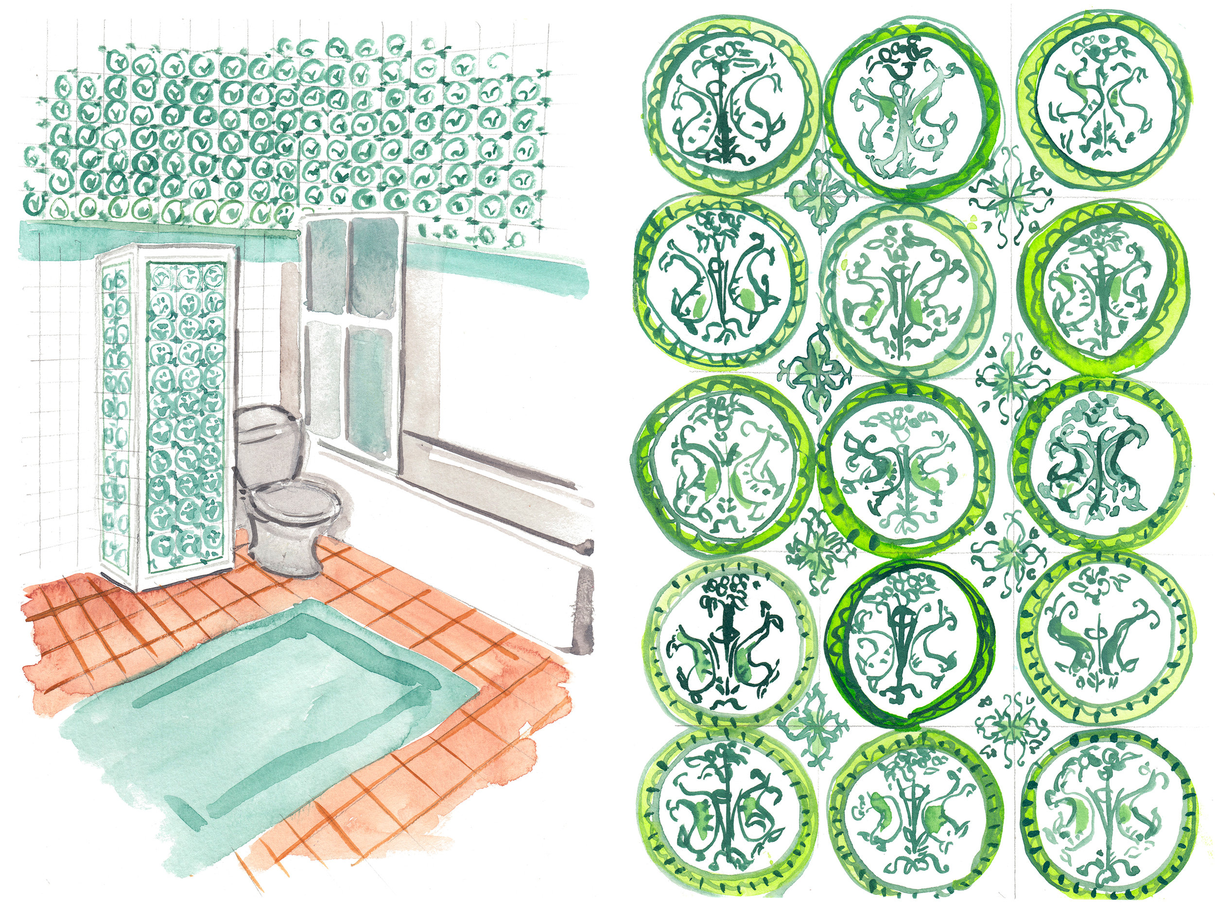 The bathroom by Madeleine Castaing.