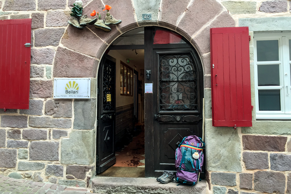 Private albergue in St Jean Pied de Port