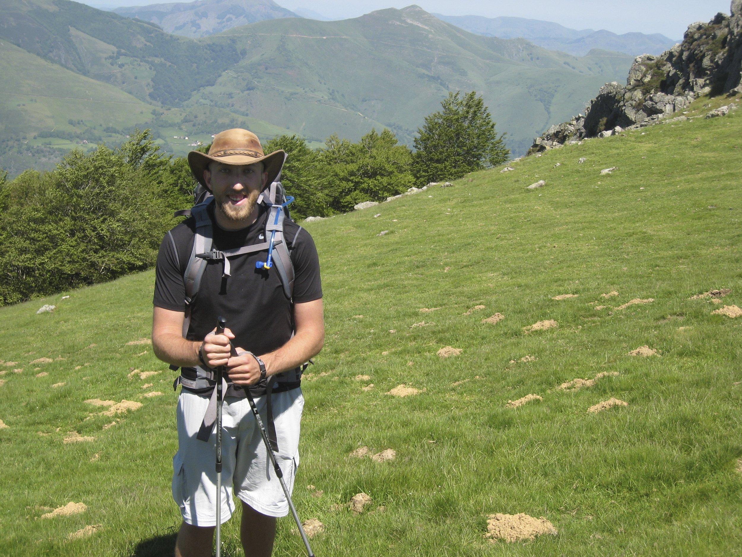 Hunter Van Wagenen crossing the Pyrenees in 2013