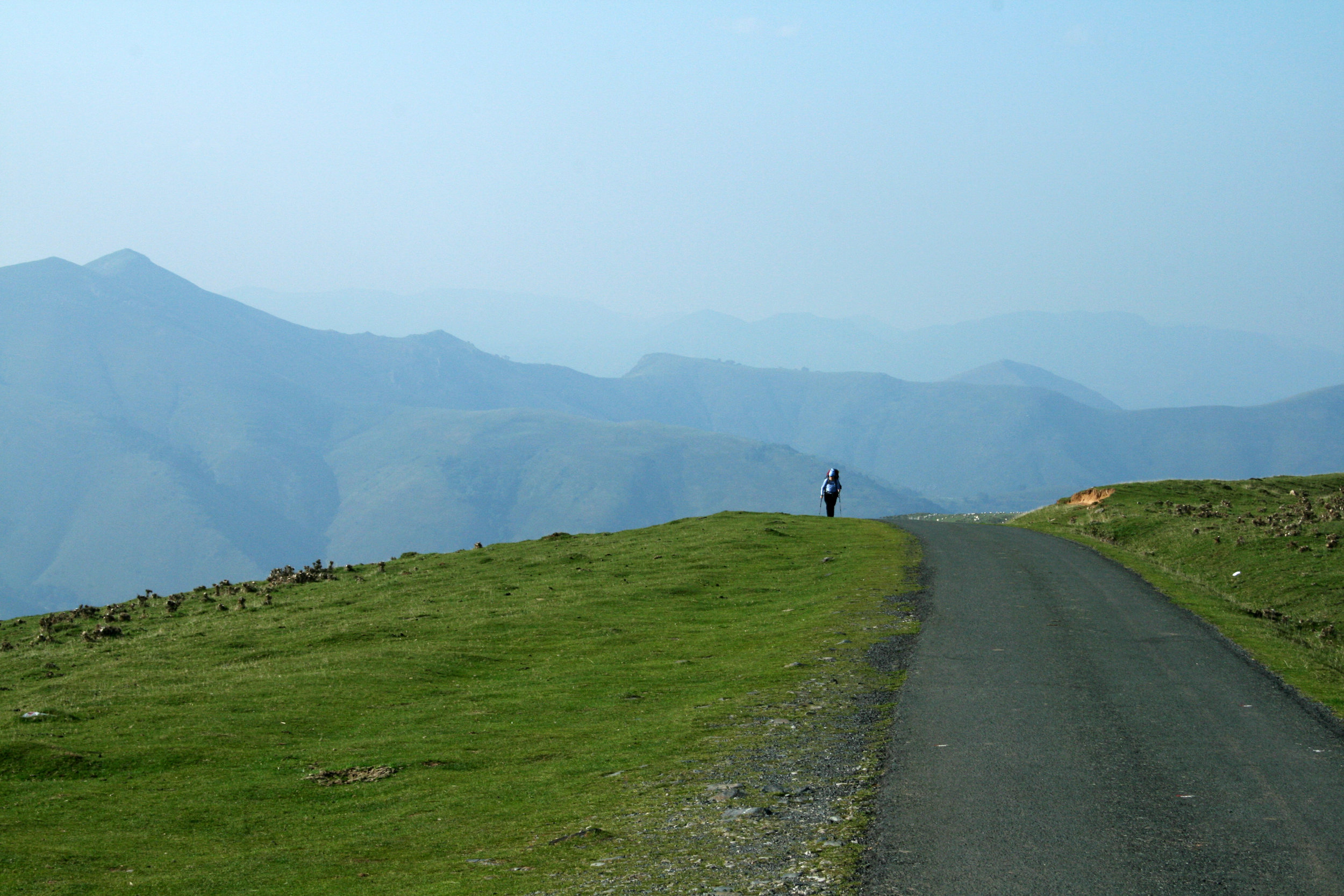 Ascent to the highest elevation over the Pyrenees. On a clear day you can see for miles and miles.