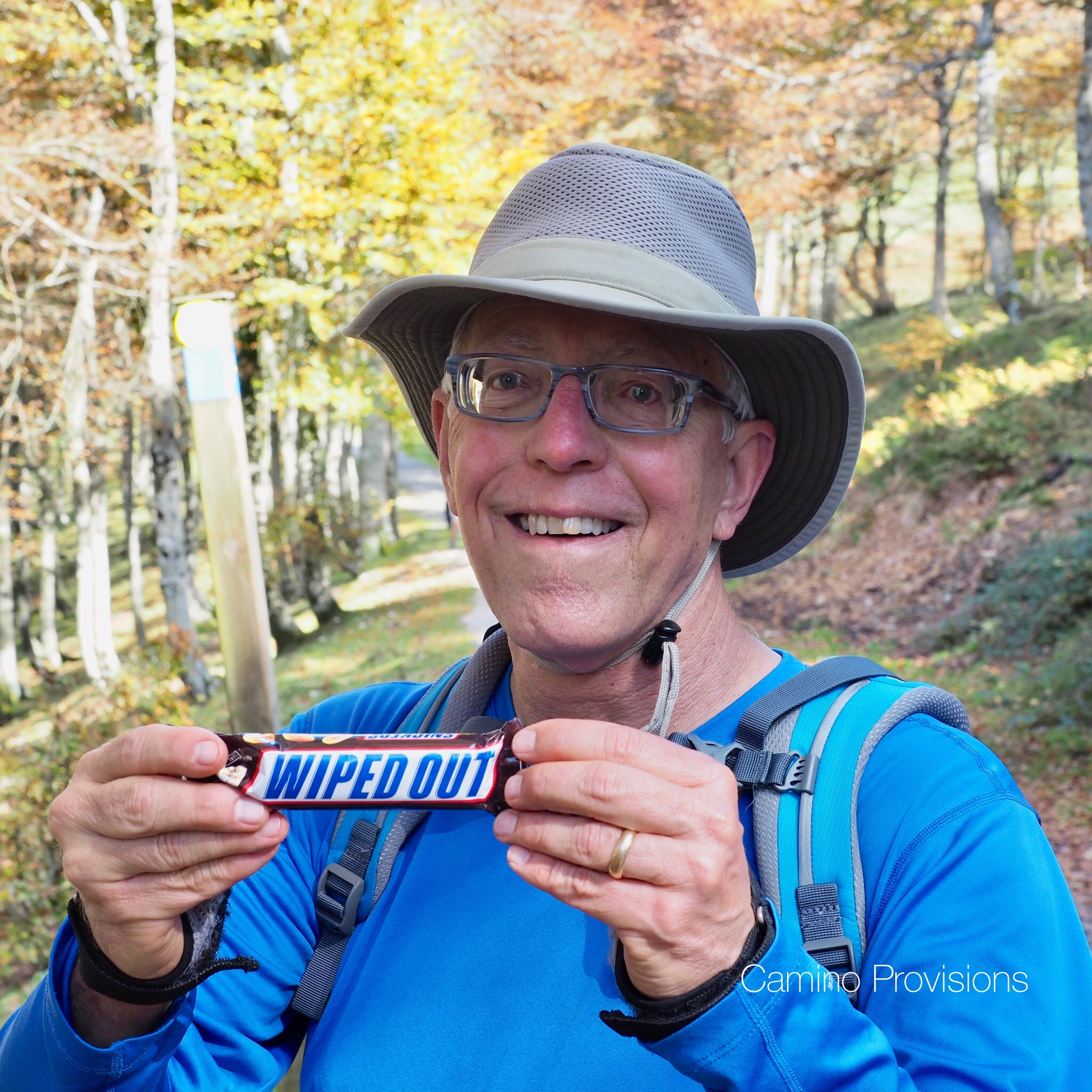 Wick was still smiling, but our last Snickers bar said it all.    Could we make it all the way over the Pyrenees?