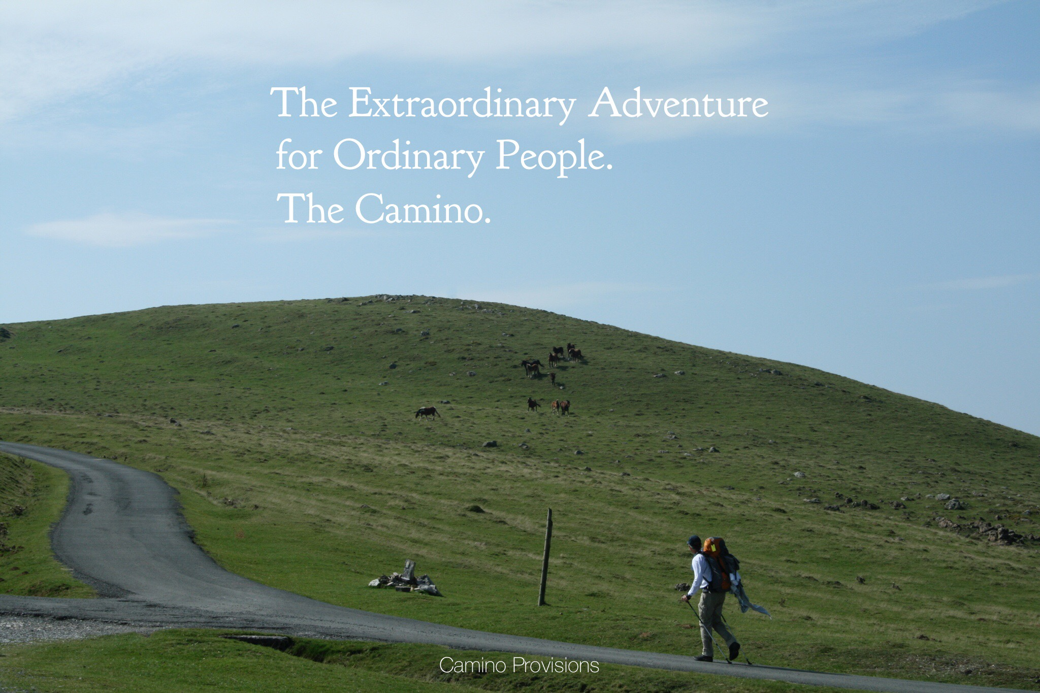 """Wick crossing the Pyrenees in 2007. Our first """"extraordinary adventure"""" with God."""