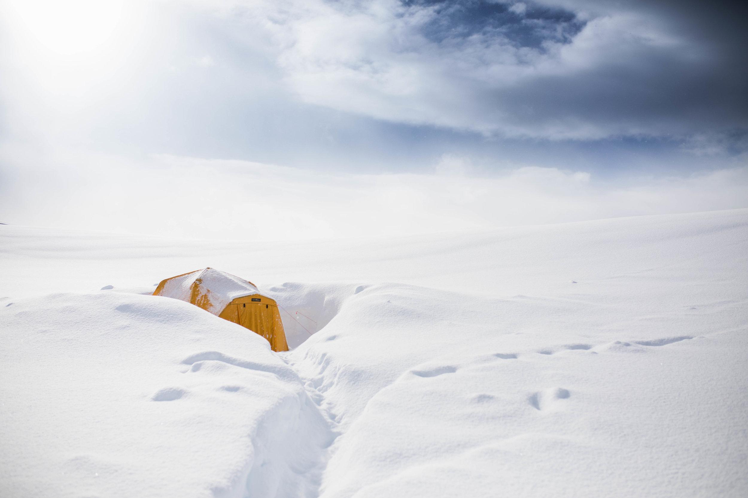 I love ski camping!
