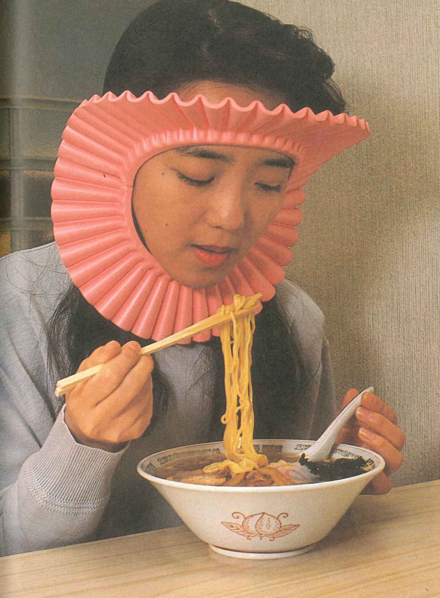 Noodle splash guard