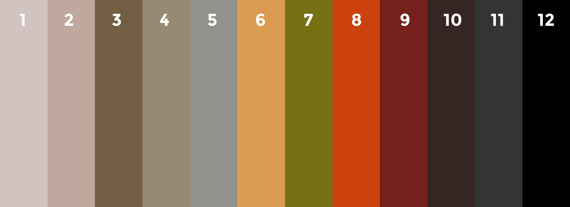 Freely choose any colors from this particular color pallet