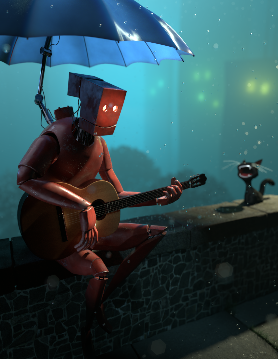 Robot and Guitar, concept by Goro Fujita