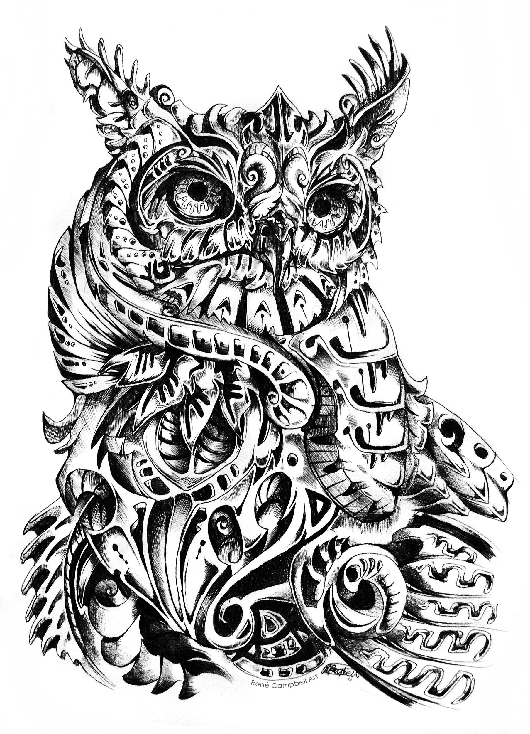 Ballpoint Illustrative Animals: ~$50 +