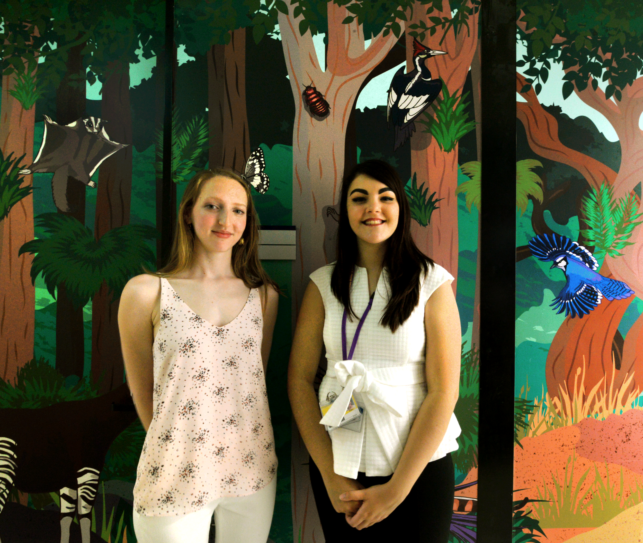 Illustrators Erin Abell from Animate Your Science (left) and René Campbell (right)