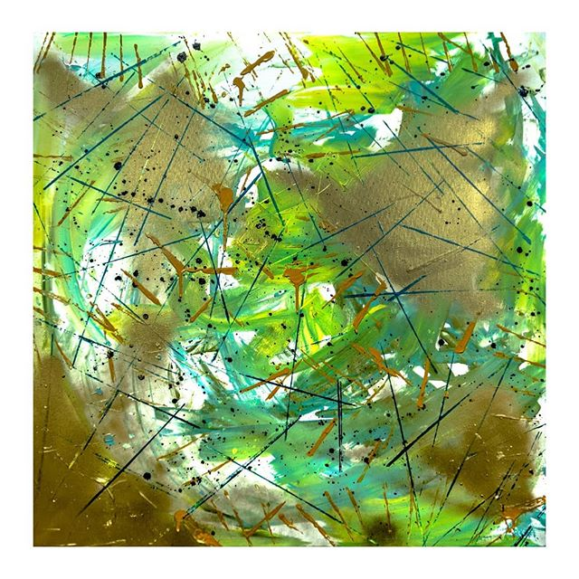 """Limbo"" 36 x 36  #abstractart #abstractpainting #expressionism #dcarts #dcartist #workingartist #emergingartists #workhouseartscenter #ffx #archesgallery #vaartist #artblog #lgbtartists #veteranartist #veteranartwork #ptsdawareness #mentalhealthawareness #acrylicpaint #spraypaintart"