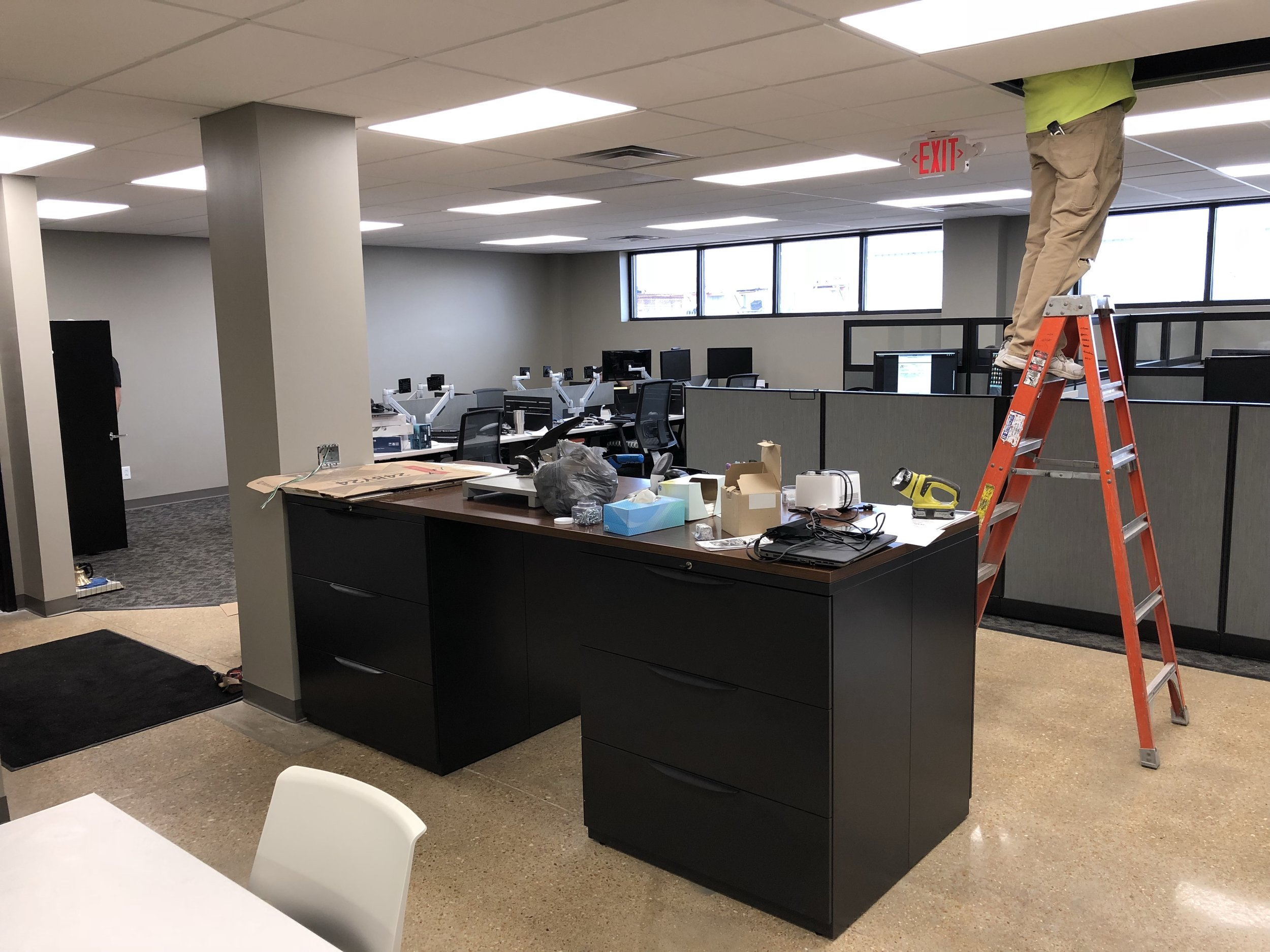 Finishing the final touches on the newly renovated St. Louis office