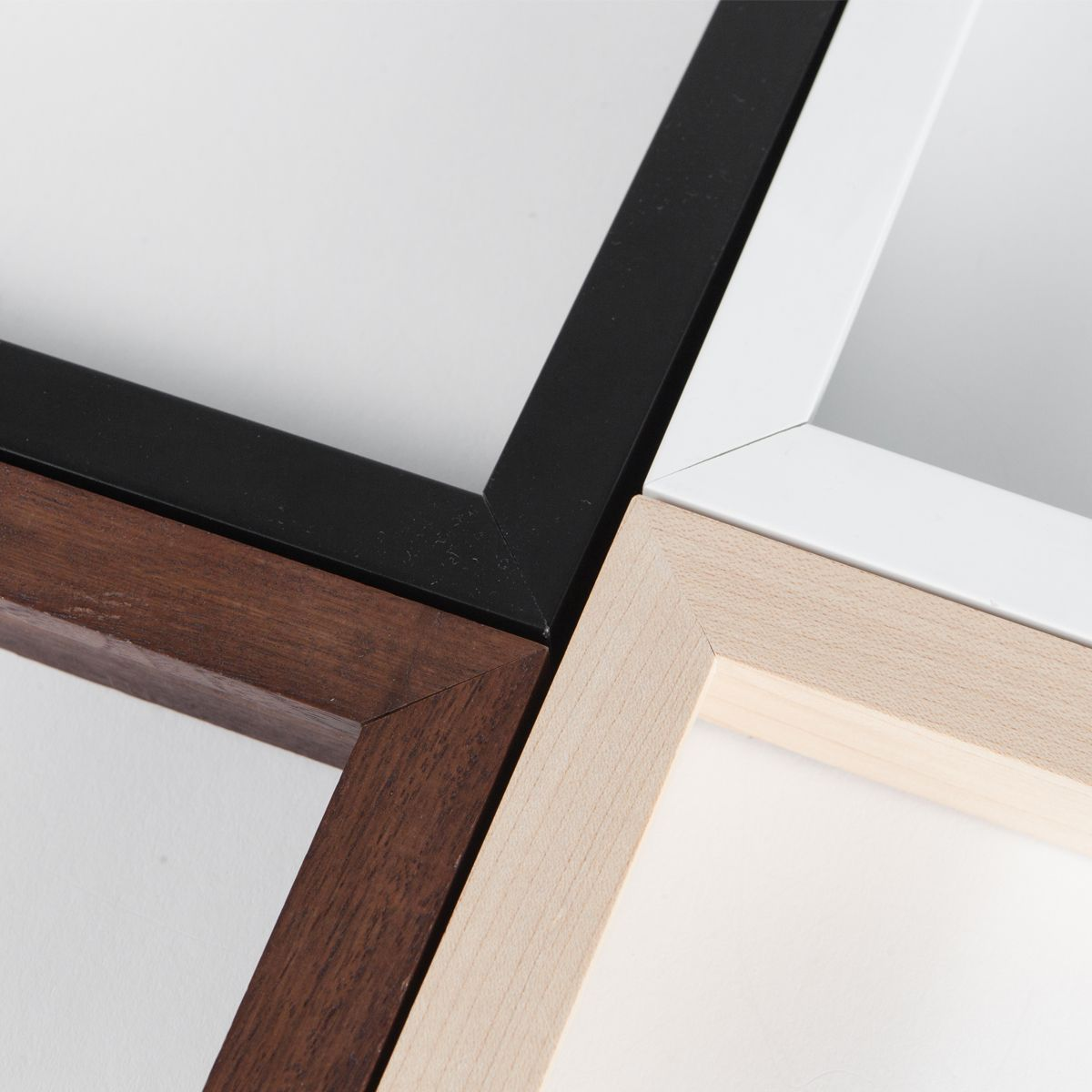 Black, White, Maple, Walnut Frames