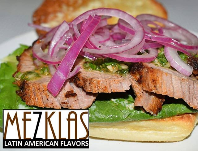 We got something delicious and unique!  Pan con Vaca (tri tip sandwich)  with Chimichurri sauce available Thursday 6/20  Hit me up if you want some.  #eatmezklas #eatbetter #realfood #mezklascatering #latinfood #latinflavors #yummy #tasty #foodie #vallejofoodie #vallejo #sfbayarea #solanocounty #tritip #chimichurri #pickledredonions #cheflife #latinfusion #sandwiches #sandwichshop #chefatwork