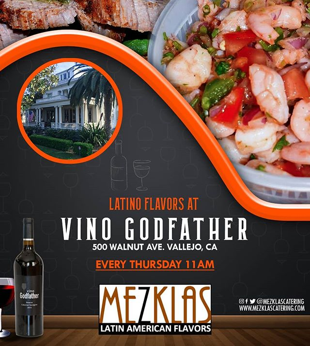 Latino Flavors at Vino Godfather!  Come and enjoy delicious food and great wine at the tasting room at 500 Walnut ave Vallejo  #eatmezklas #eatbetter #realfood #mezklascatering #latinfood #latinflavors #wine #sfbayarea #solanocounty #tritip #chimichurri #pickledredonions #cheflife #latinfusion #winery #vallejo