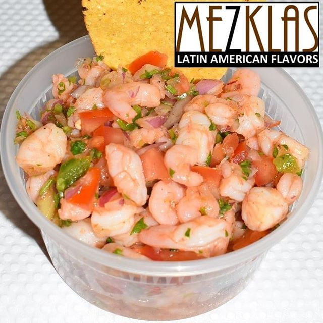 Shrimp ceviche and Pan con Chancho with Aji sauce available at Vino Godfather today.  #eatmezklas #eatbetter #realfood #mezklascatering #latinfood #latinflavors #yummy #tasty #foodie #vallejofoodie #vallejo #sfbayarea #solanocounty #shrimp #camarones #seafood #healthyfood #panconchicharron #peruvianfood #ajisauce