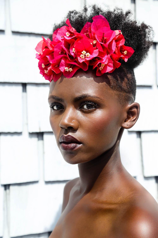 Wildflowers- portrait inspiration - portrait noire