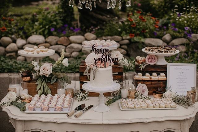 👰🏻🤵🏻I am IN LOVE with the photos of this romantic dessert table! Feeling grateful for couples who trust my creative vision to help them celebrate their big day. Which photo from @lindsayruzi is your favorite? 1, 2, 3, 4, or 5👇🏻