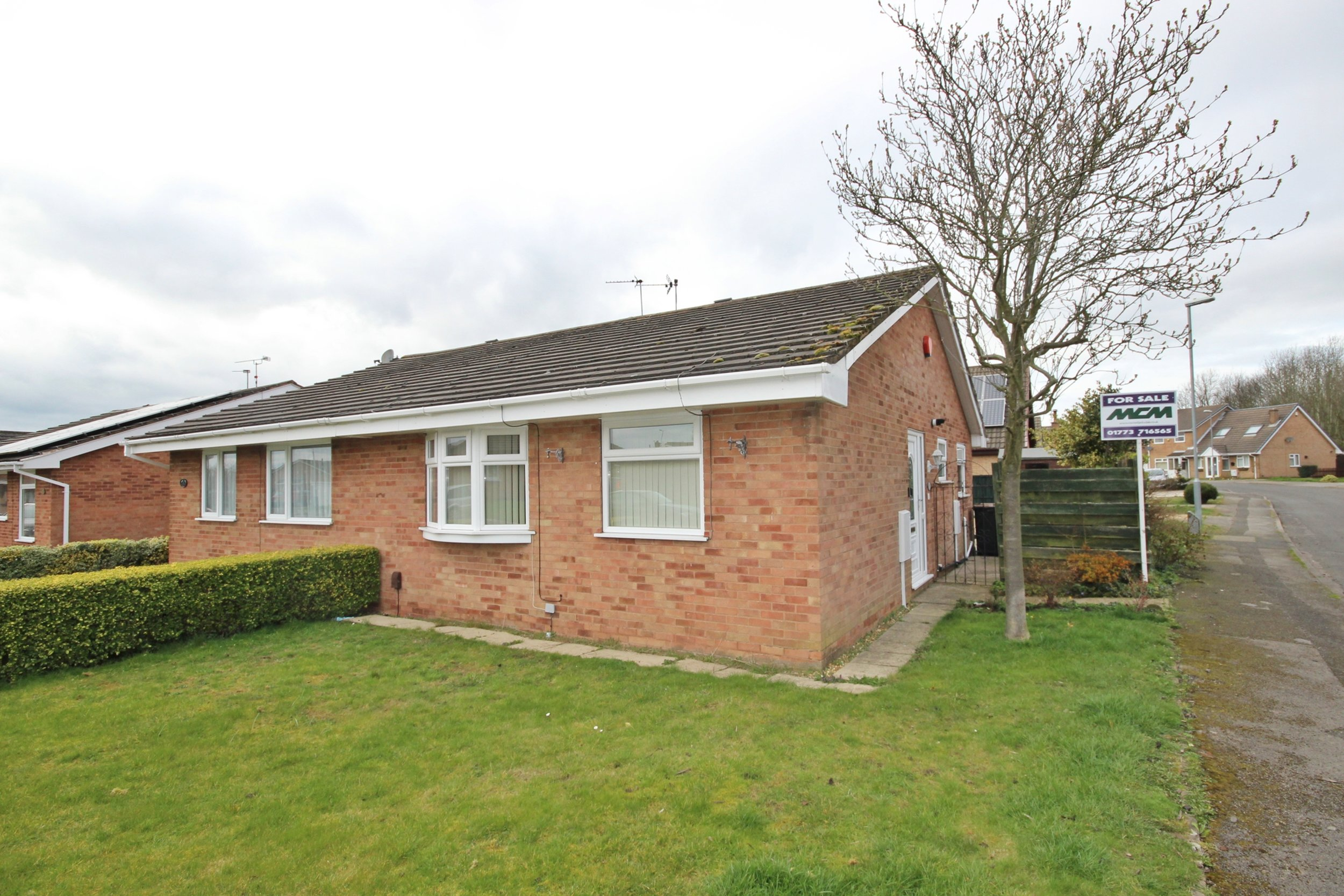IT'S GONE! - £125,000 Royal Oak Drive, Selston, Nottinghamshire, NG16 6RJ - 2 BEDROOM SEMI DETACHED BUNGALOWNO ONWARD CHAIN! Rare to the market, this well proportioned semi detached bungalow has been well cared for and offers a spacious lounge, kitchen, two bedrooms and a three piece bathroom, plus a lovely garden to the side. EPC rating D.
