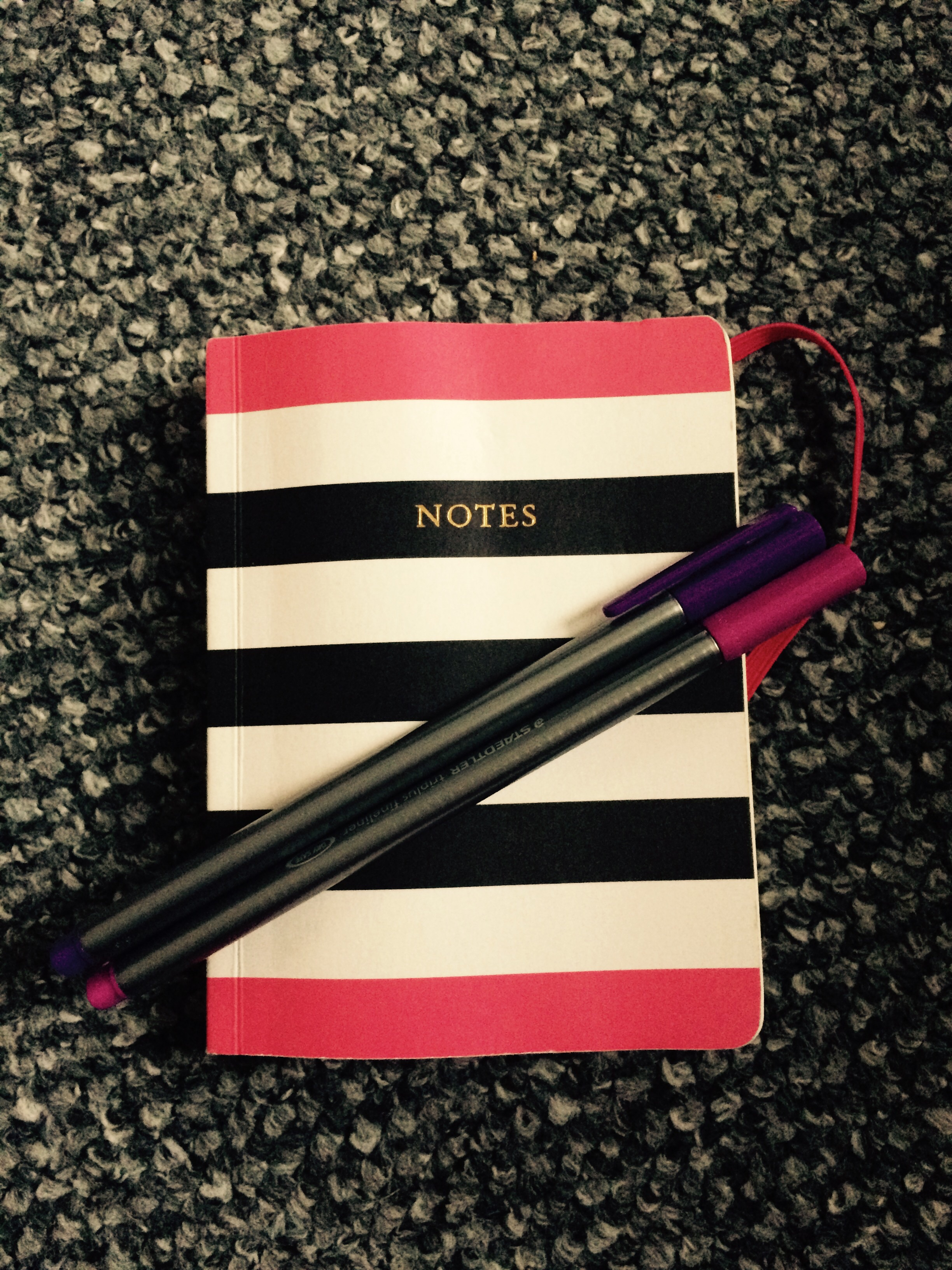 Notes and matching Staedtler pens