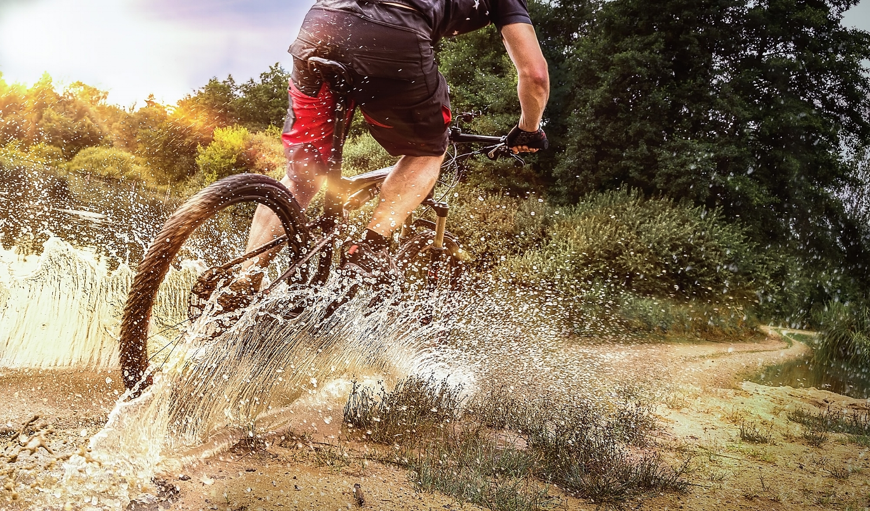 Fahrrad-Mountainbike-Sportfotografie