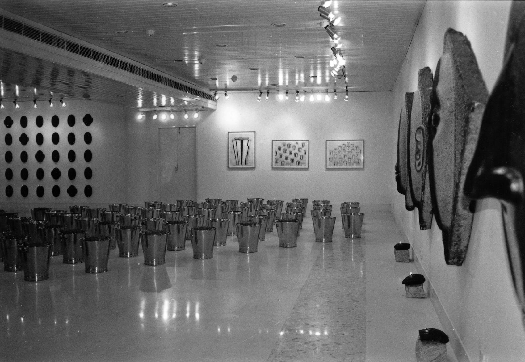 This piece was exhibited in 1996 in New Delhi: 'An Indian Decade, Art Today Gallery, Ajanta Gallery, New Delhi, Jamali Kamali Gardens, India' -