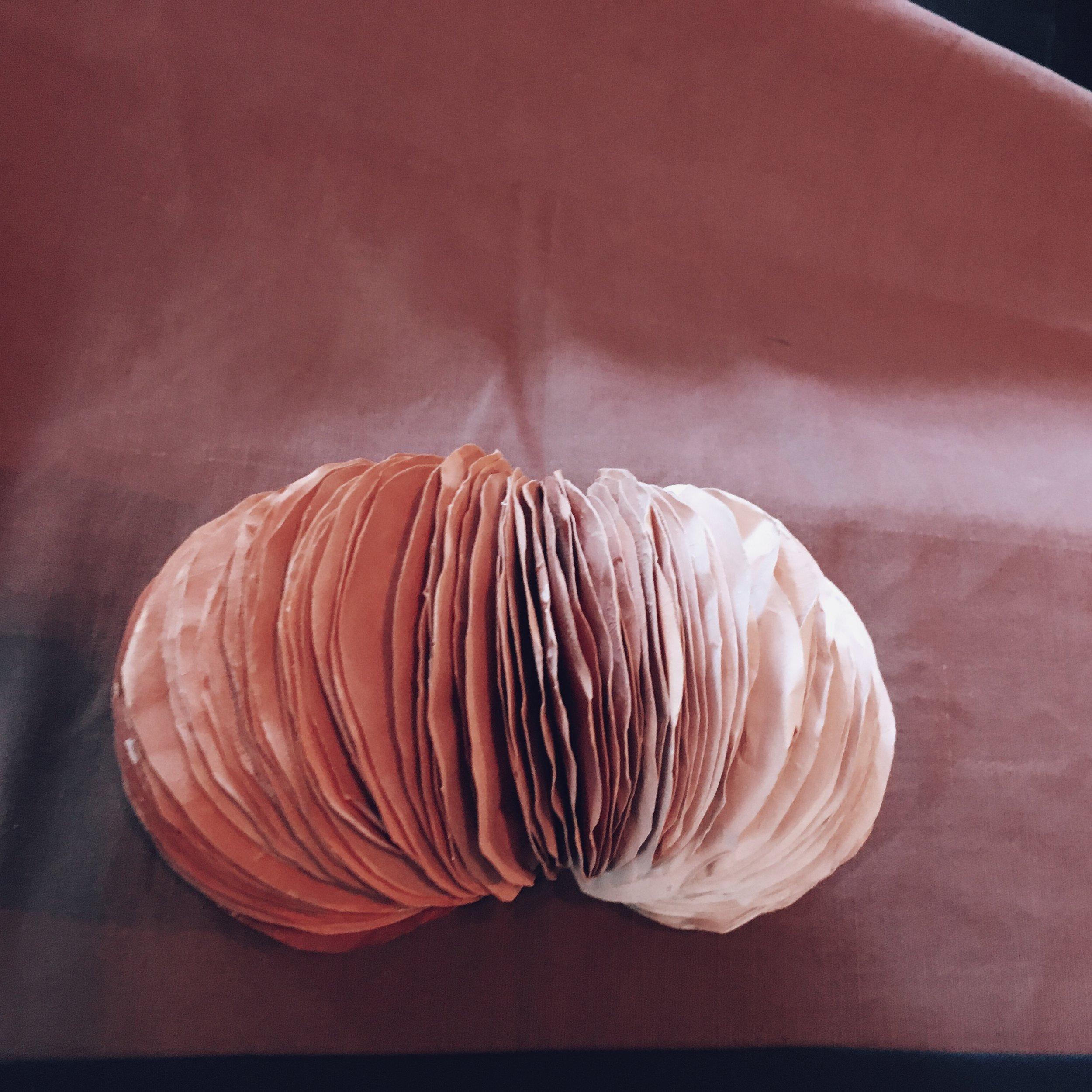 Paper sculpture. Blush 2016