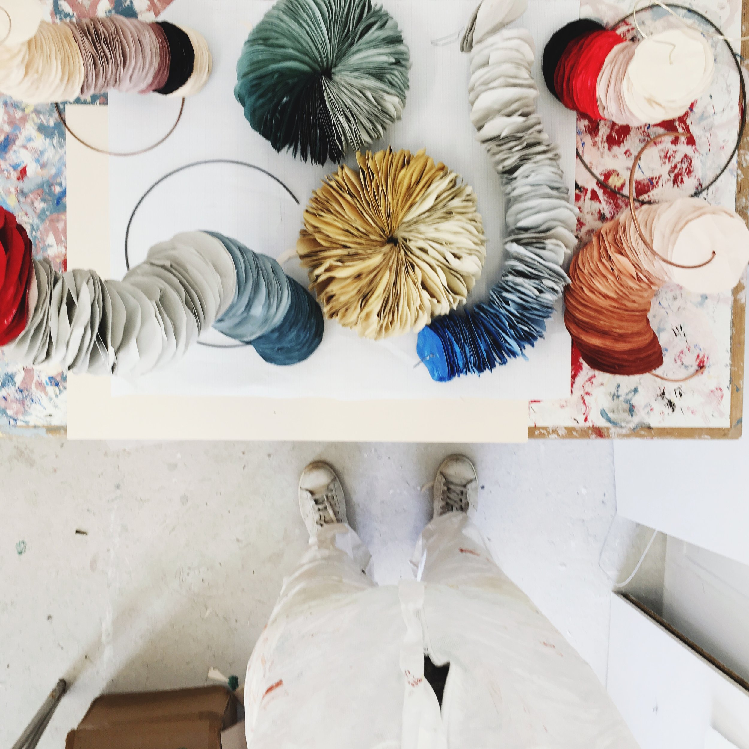Paper sculptures from above