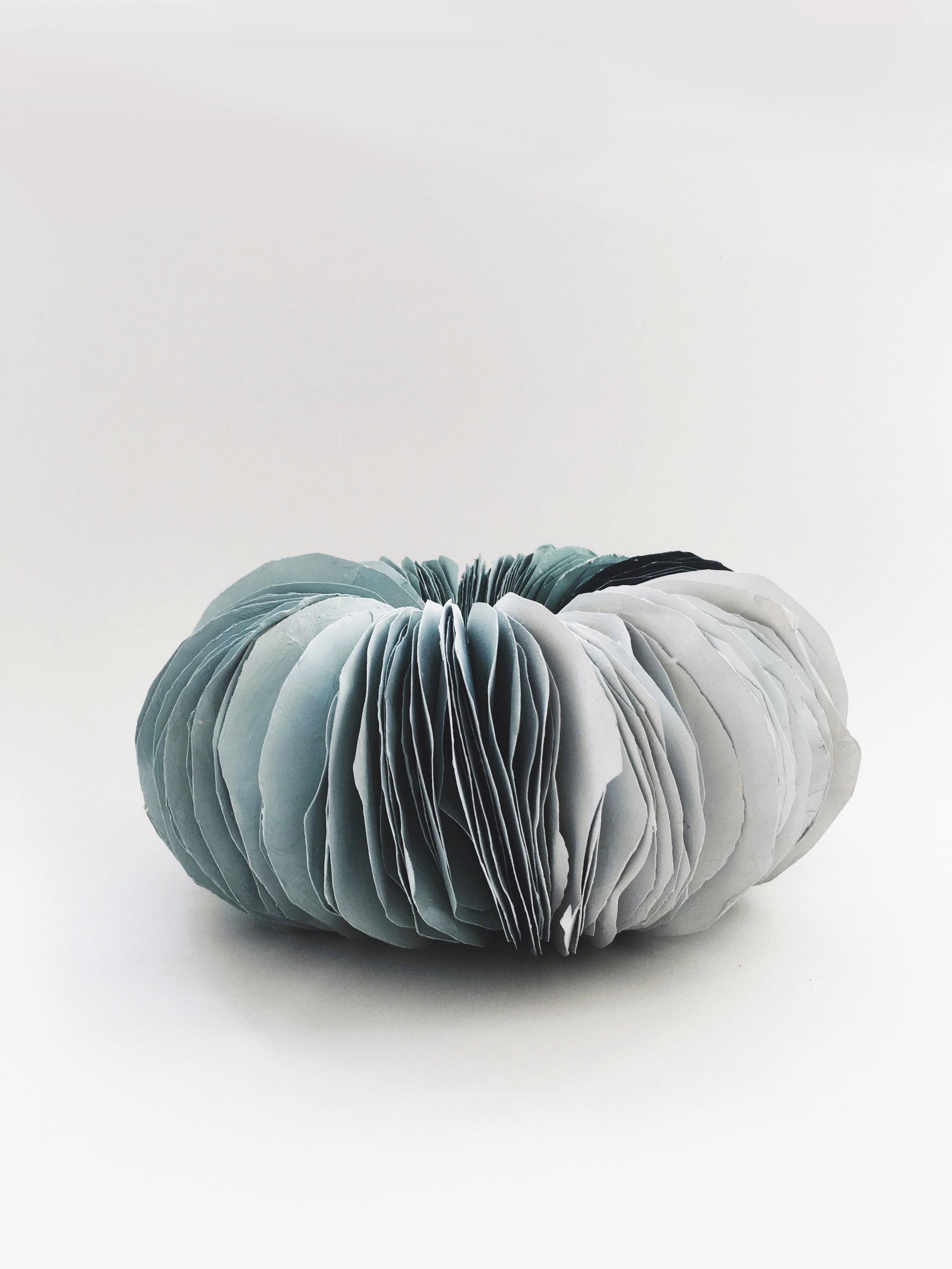 Paper sculpture teal 2016