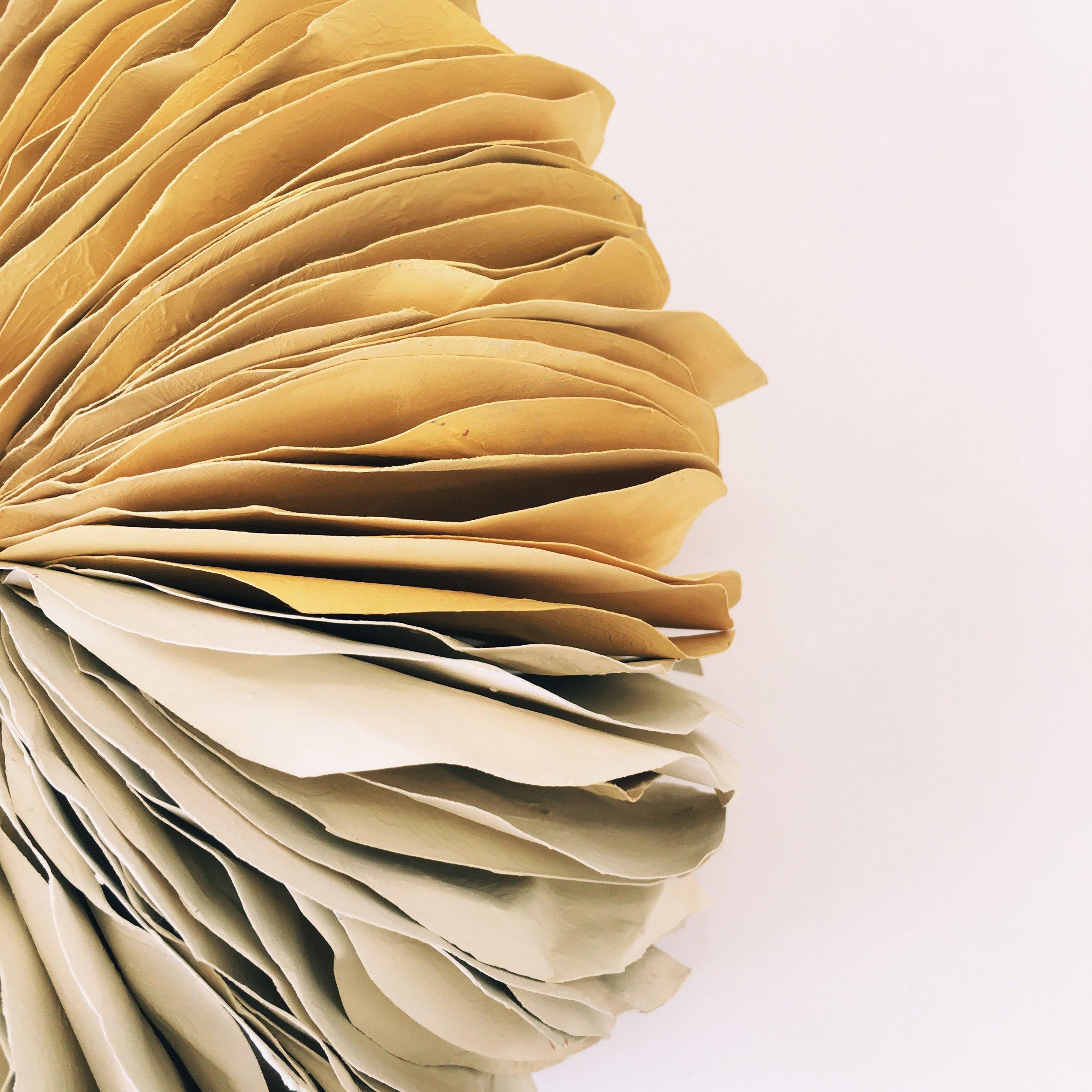 Paper sculpture yellow 2016