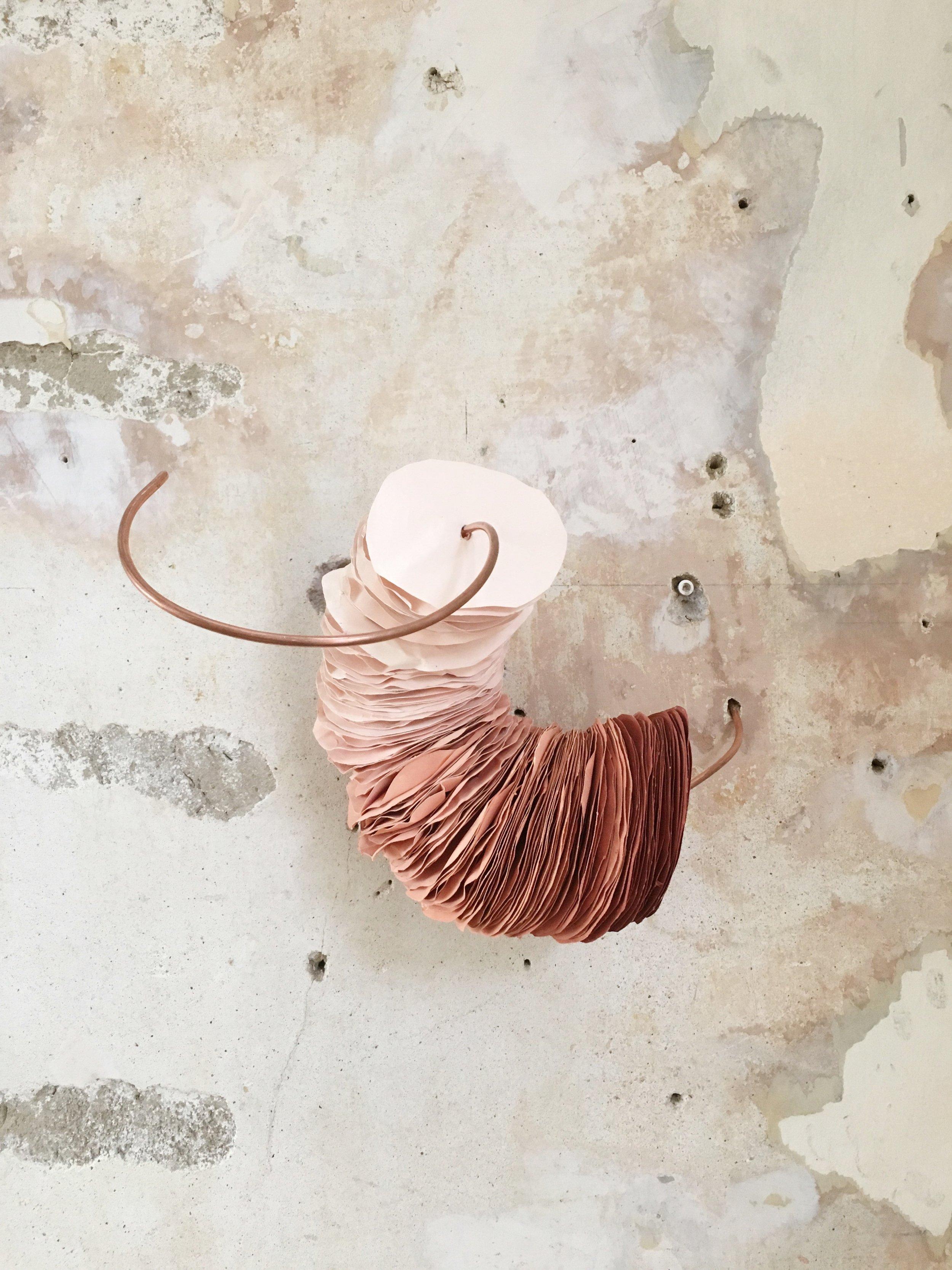 Paper sculpture pink 2016