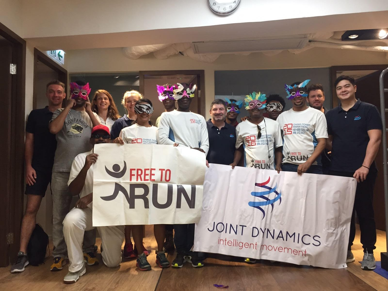 The team at Joint Dynamics kindly donated physiotherapy treatments to several Free to Run program participants.