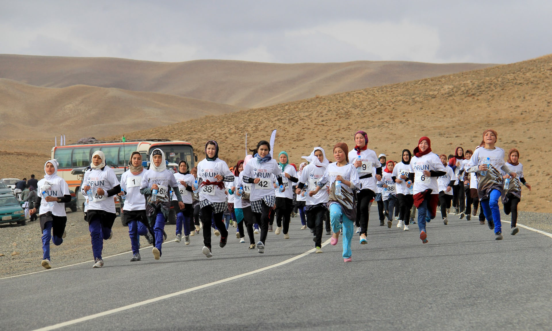 The very first international running race in Afghanistan in 2015. Photograph: Latif Azimi