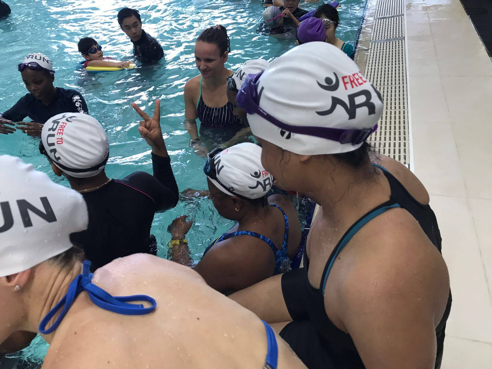 Hong Kong's swimming programme for refugees in 2017