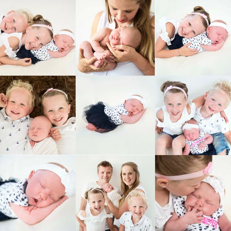 newbornshoot oudere kinderen, broer, zus, gezin babyfoto met broer, babyfoto met zus
