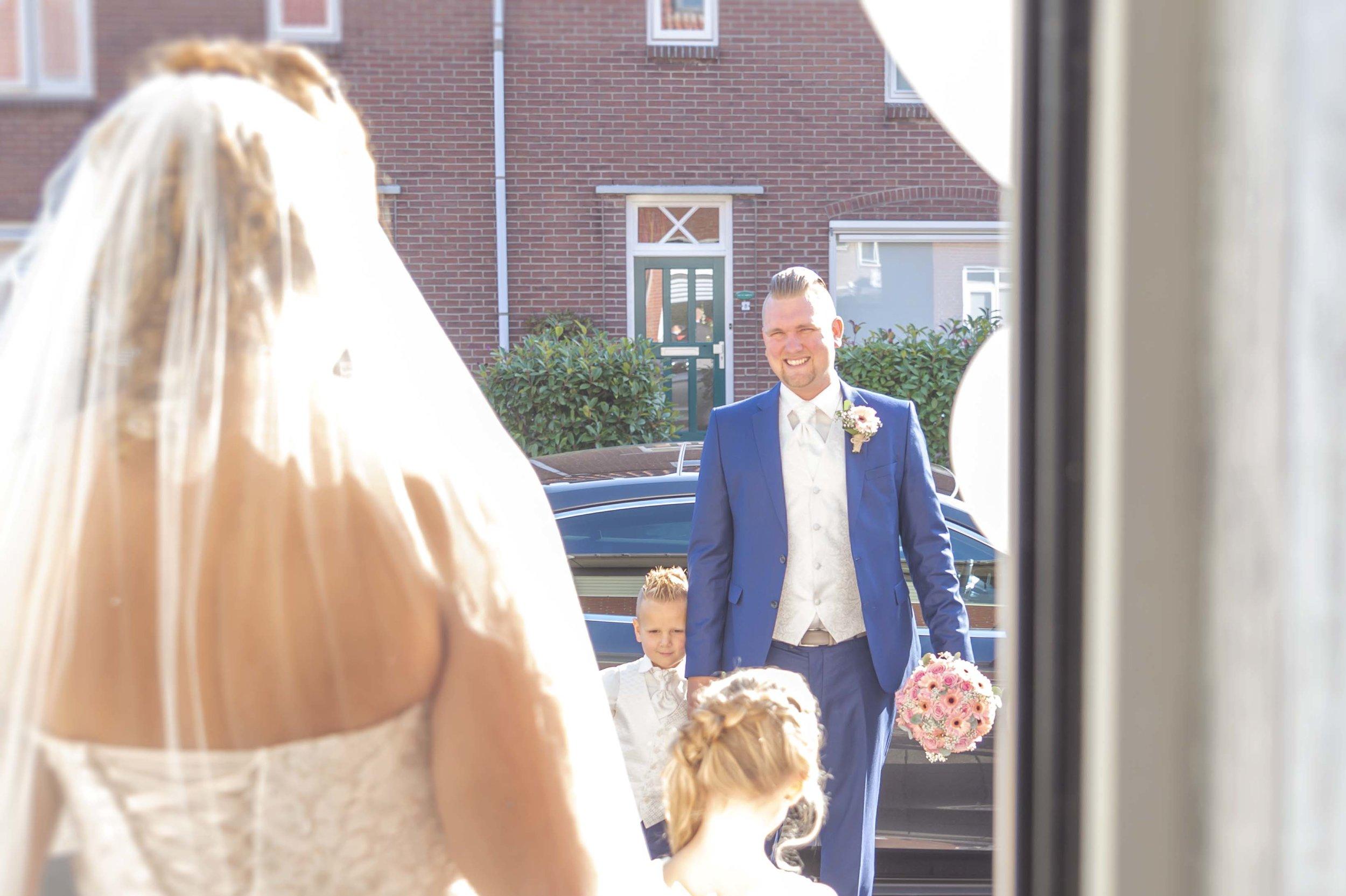 ophalen van de bruid bij ouderlijk huis
