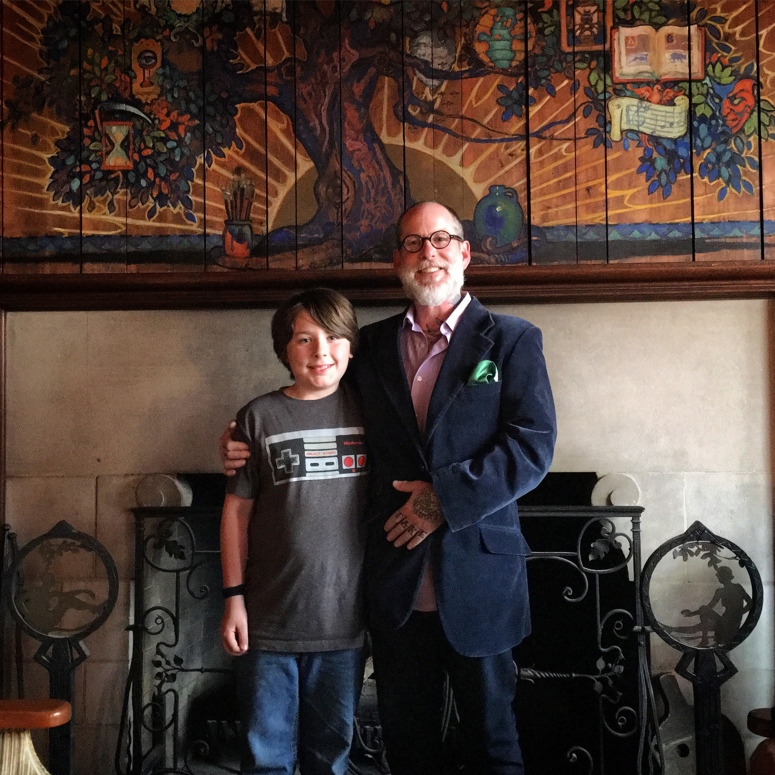 Finn and I at The Scarab Club in Detroit