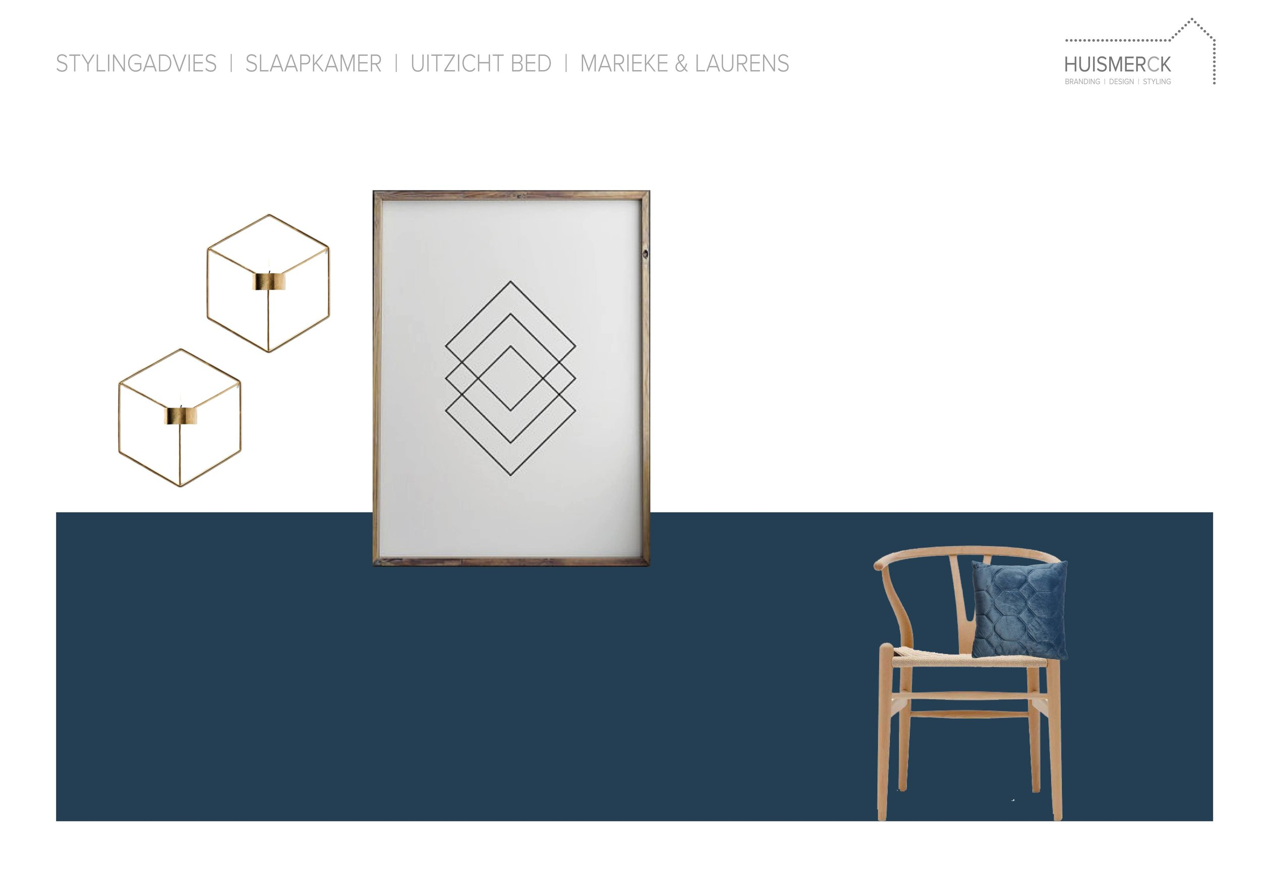 HUISMERCK®_Stylingadvies_Slaapkamer_uitzicht_bed_M&L_Enschede (lambrisering blauw)-01.jpg