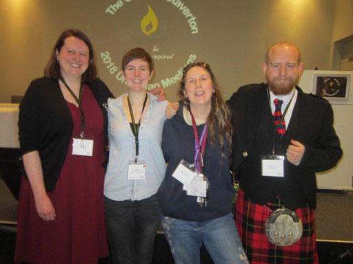 Hannah Cook, Sara Helen Binney, Lorna Barry and Adam Cook. Photograph by Margaret Hill
