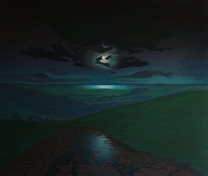 Moonscape over Litton Cheney, West Dorset