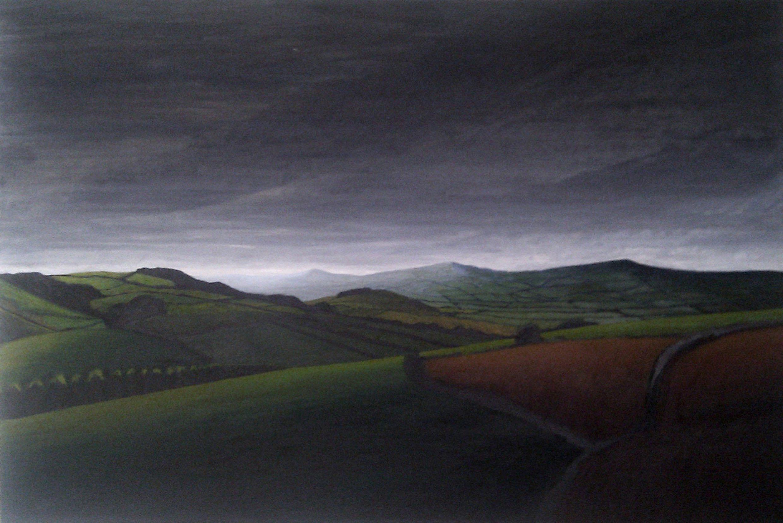 Moody light above the Marshwood Vale, West Dorset