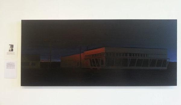 """""""Dark Cafe"""" on display at """"HOME in Bridport"""" exhbition at Bridport Arts Centre"""