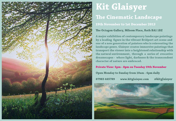 "Flyer for ""The Cinematic Landscape"", the Octagon Gallery, Bath"