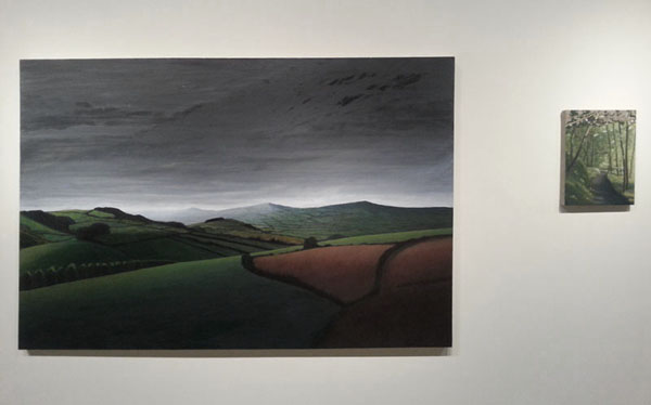 "Installation of ""Moody view across the Marshwood Vale"" & ""Lewesdon Path"""