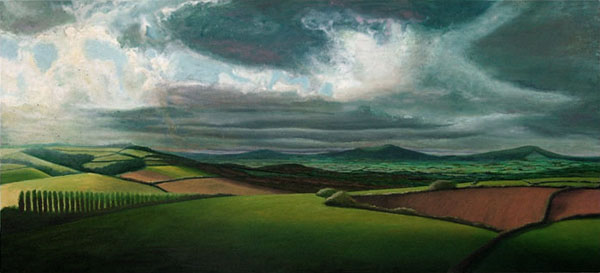 """Dorset Clouds"", oil on canvas, 120x55cm"