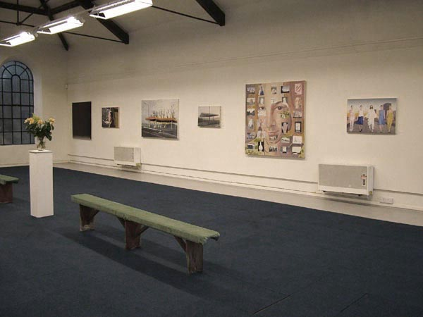 "Installation view at ""On the way to work"", solo show at Bridport Arts Centre, Bridport"