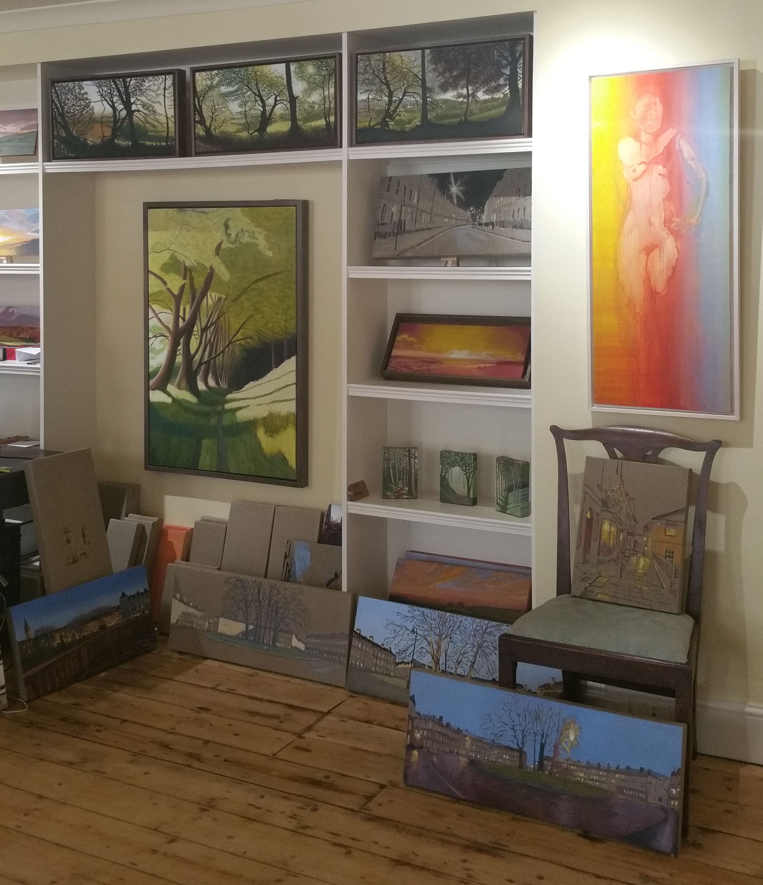 A selection of Kit's work on show.